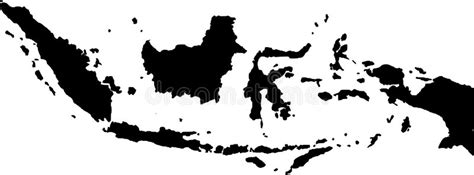 vector map  indonesia stock vector illustration  flag