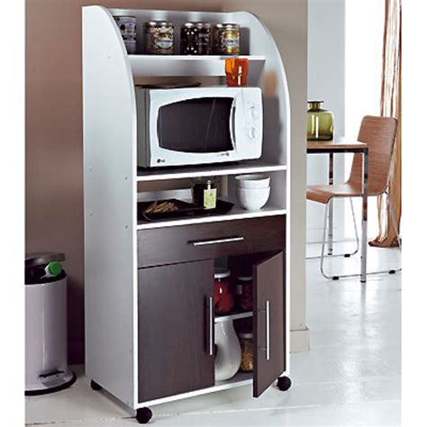 meuble cuisine pour micro onde meuble micro ondes 2 portes 1 tiroir ciboulette blanc