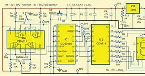 Electrical And Electronics Engineering  Difference Counter For In And Out Gates