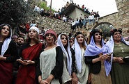 In pictures: Yazidis celebrate New Year at ancient temple ...