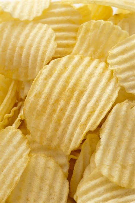 ridged potato chips  background  stock image
