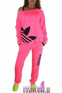 Image Gallery neon pink adidas tracksuit