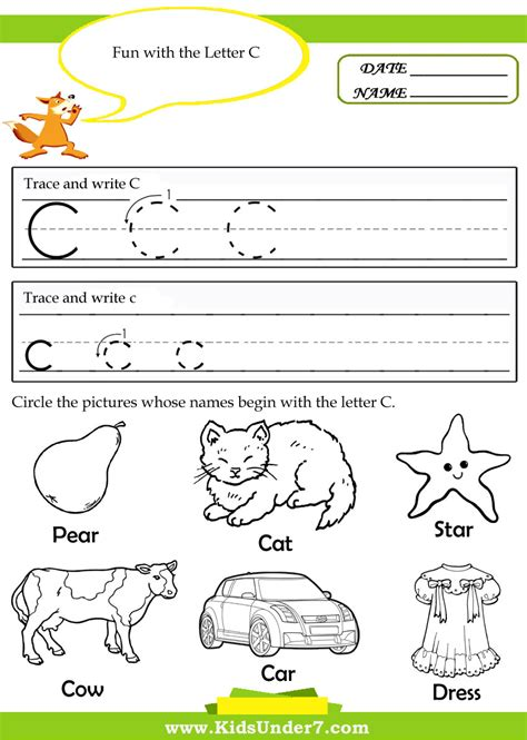 free preschool alphabet printing worksheets 7 740 | free preschool alphabet printing worksheets kids under 7 tracing pages letter c