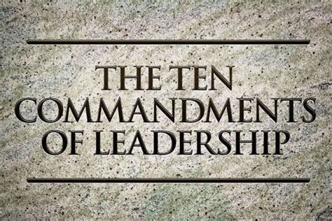 commandments  christian leadership development