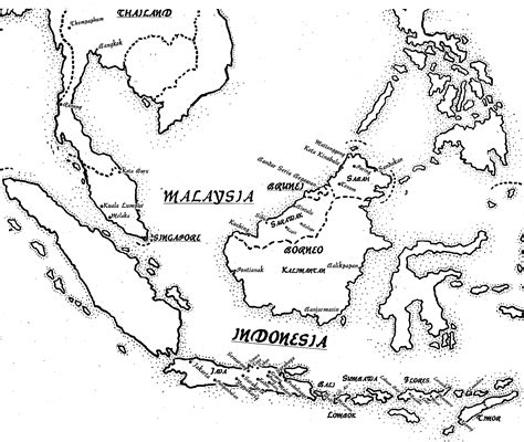 indonesia map drawing