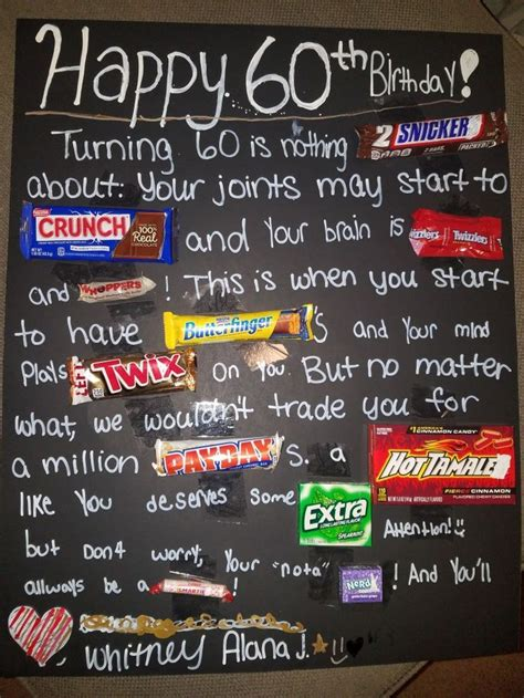 birthday poster  candy bars     dad