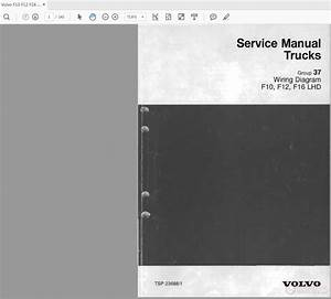 Volvo F10 F12 F16 Lhd Wd Trucks Service Manual