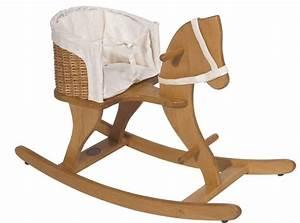 Cheval A Bascule : moulin roty cheval bascule en h tre et siege osier ~ Teatrodelosmanantiales.com Idées de Décoration