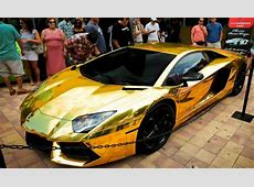 Dubai World's Most Expensive GoldPlated Lamborghini Car