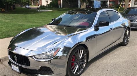 Luxury Sports Car  Maserati  Q4 Ghibli  Amazing Silver