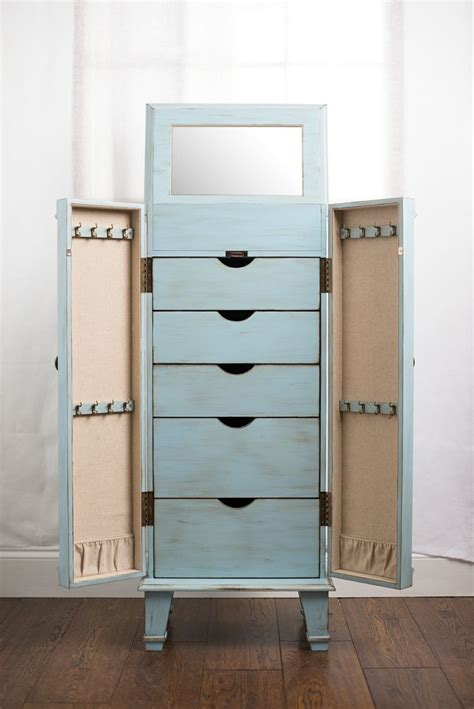 Blue Jewelry Armoire by Jewelry Armoire Jewelry Armoire Blue