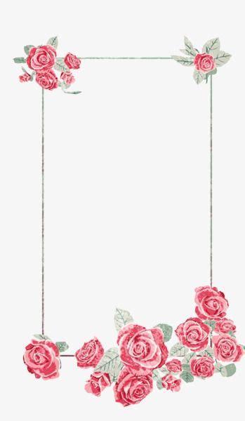 creative floral border atmosphere floral png in 2019 꽃 프레임 이름표