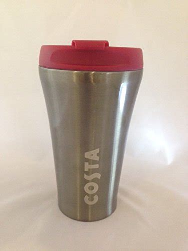 costa coffee reusable red plastic travel mug tumbler cup
