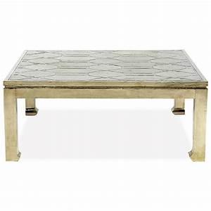 jodie hollywood regency german silver square coffee table With silver square coffee table