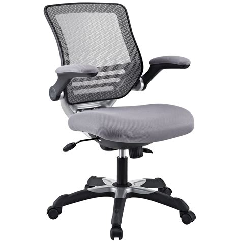 modway edge office chair in gray beyond stores