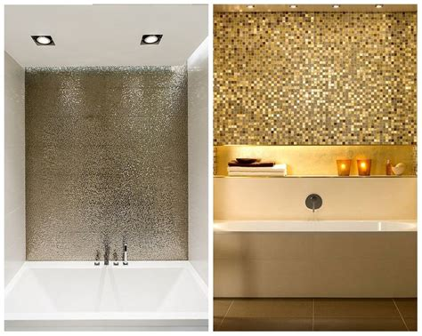 metallic tiles for bathroom 40 best images about bathroom on mosaic tiles