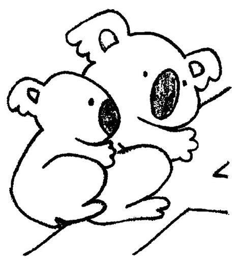 koala bear mom   baby coloring page koala bear mom