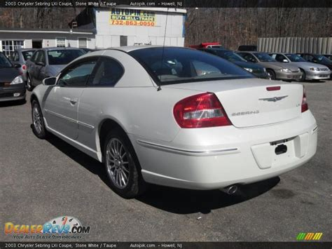 2003 Chrysler Sebring Lxi Coupe by 2003 Chrysler Sebring Lxi Coupe White Taupe Photo