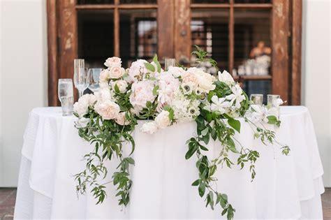 Romantic Pastel Santa Barbara Wedding in 2020 Head table