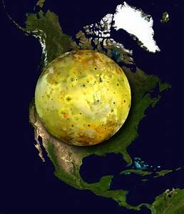 Jupiter Moon Io On Earth And North America - Business Insider
