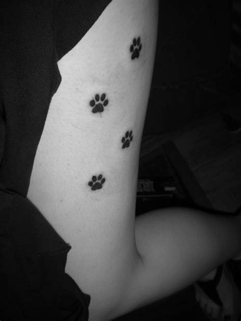 Dog Paw Print Tattoos Designs, Ideas and Meaning | Tattoos