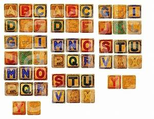 vintage childrens abc alphabet toy letter blocks in 1 inch With toy letter blocks