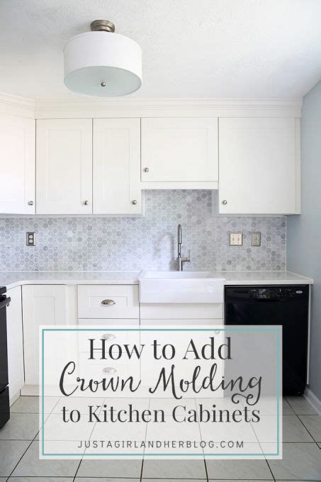 how to cut crown molding for kitchen cabinets how to add crown molding to kitchen cabinets easy diy i 9892