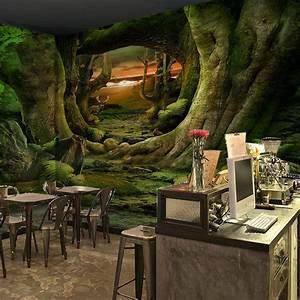 3D Forest elk elves 1 WallPaper Murals Wall Print Decal ...