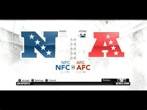 ps gameplay madden nfl  pro bowl afc  nfc youtube