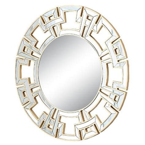 Accent mirrors for less, at your doorstep faster than ever! Round Kaydence Decorative Wall Mirror Light Gold - Abbyson ...