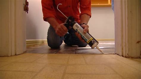 Laying Tile Linoleum Glue by How To Install Vinyl Flooring Without Using Adhesive