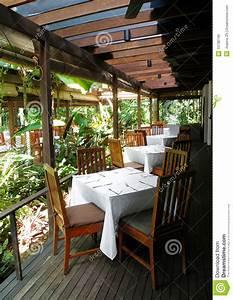 Outdoor Patio Restaurant Dining Stock Image