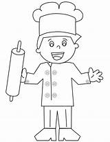 Baker Coloring Template Sheet Pages Kidssearch Templates sketch template