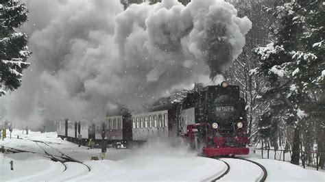 harzdampf im schnee ostersonntag  youtube
