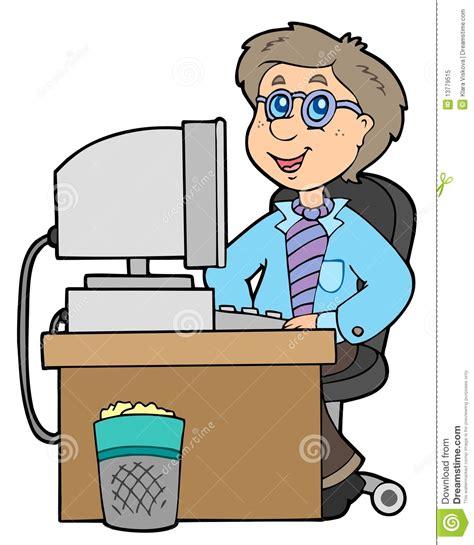 bureau dessin employé de bureau de dessin animé photo libre de droits