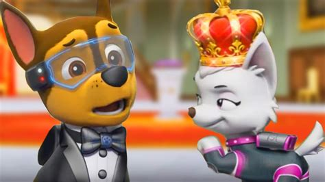 paw patrol mission paw rescue royal crown cartoon games