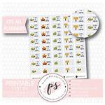 Camping Countdown Stickers Planner Printable Digital Icons