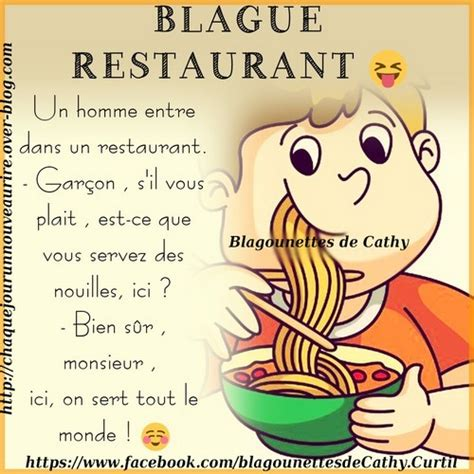 blague sur la cuisine blague sur le thème restaurant blagounettes de cathy
