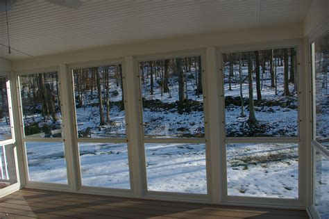 How To Enclose A Screened In Porch by Enclose Your Screen Porch Custom Decks Of Fairfield