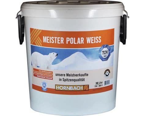 Hornbach Wandfarbe Weiss Wandfarbe Meister Polarwei 10 L Bei
