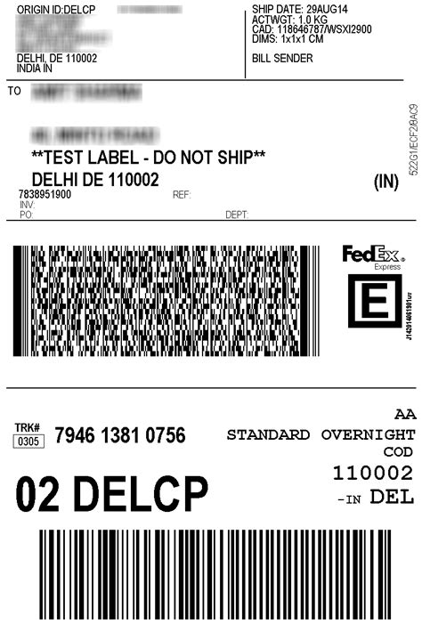 Fedex Label Template Word by Fedex Label Template Word Popular Sles Templates