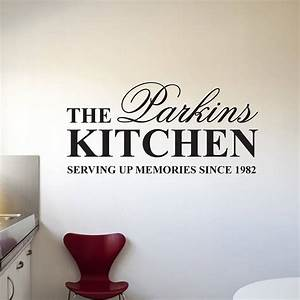 personalised 39kitchen39 wall stickers by parkins interiors With kitchen colors with white cabinets with family wall art quotes