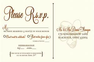 Designs by n wedding rsvp postcards for Rsvp wedding templates