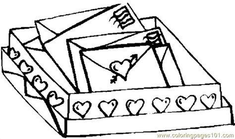 love letters coloring page  valentines day coloring