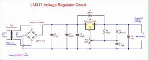 Variable Lm317 Voltage Regulator Circuit