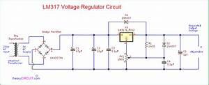 Variable Lm317 Voltage Regulator Circuit