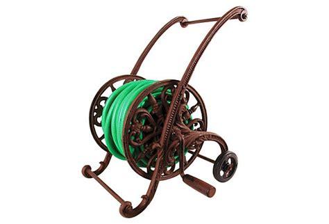 cast iron hose reel on wheels on onekingslane