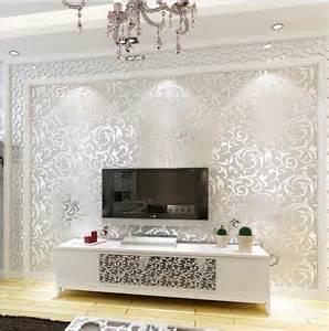 tapeten design ideen schlafzimmer luxus wohnzimmer tapeten design mit kombination lowboard weiß hochglanz design für luxus