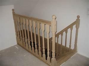 Balustrade En Bois : rambarde escalier bois ~ Melissatoandfro.com Idées de Décoration