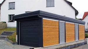 Holzgarage Mit Carport : holz garagen carport in holz alu stahl carport bausatz ~ Markanthonyermac.com Haus und Dekorationen